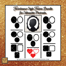 8 Farmhouse Silhouette Portrait Frames, Vector Portrait Frames, Silhouette Frame Bundle, Picture Frames, Fancy Style Frames, Oval Frames, Square Frames, Digital Designs, Svg Files for cricut & Silhouette - Vinyl Cutting Inspiration