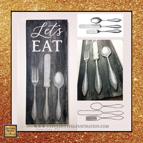 Vintage Knife Fork Spoon - Svg Files Dxf Files, Farmhouse Svg, Laser Cutting Files, Farmhouse Kitchen Svg, Farmhouse Cutting Files, Cut Files for Cricut & Silhouette - Vinyl Cutting Inspiration