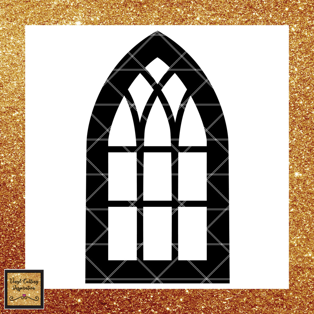 Farmhouse Window Frame, Svg, Cathedral Window Frame, Farmhouse Decor ...