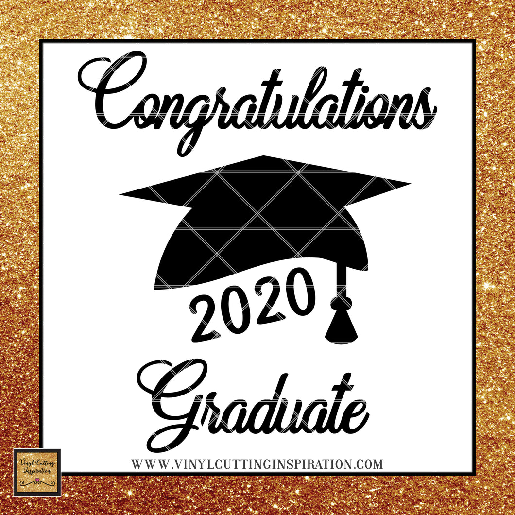 🎓 Graduation 2020 svg, Graduation Cap, Congratulations Graduate, Svg Cut File, SVG, DXF, Vector Cutting Files, cut files, Teacher svg - Vinyl Cutting Inspiration