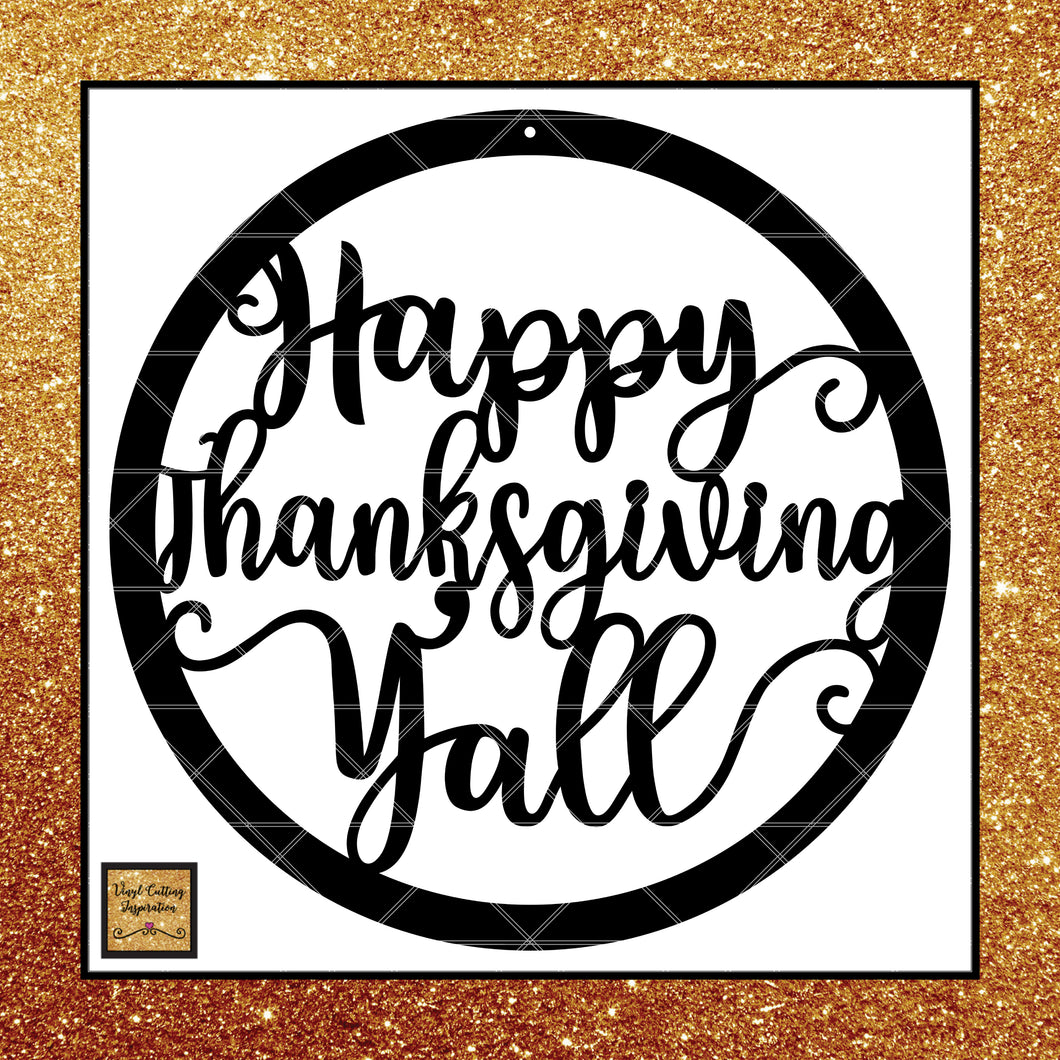 Happy Thanksgiving Yall >> Happy Thanksgiving Yall Awesome Design Svg Dxf Eps Ai Jpeg