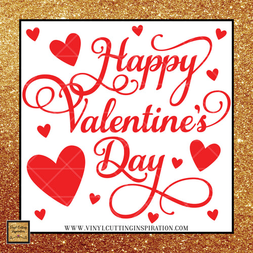 Happy Valentine's Day Svg,  Valentine Svg, Valentines Day Svg, Heart Svg, Love Heart Svg, Cutting Files For Silhouette and Cricut, Svg Files, dxf - Vinyl Cutting Inspiration