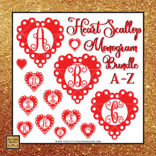 Heart Svg, Scallop Heart Svg, Monogram Bundle, Happy Valentine's Day Y'all Svg, Valentines Day Svg, Valentine Svg, Valentines Svg, Love Svg, Heart Svg, Love Heart Svg, Cutting Files Cricut, Svg Files - Vinyl Cutting Inspiration