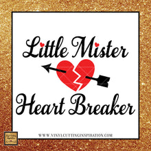 Little Mister Heart Breaker SVG, Little Mister Svg, Valentine Svg, Valentines Day Svg, Heart Svg, Little Mister Valentine Svg, Svg files, Svg image, Svg Designs,  Bow Tie SVG - Vinyl Cutting Inspiration