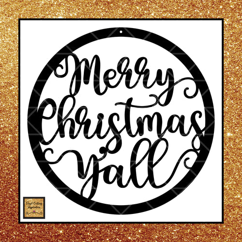 Merry Christmas Yall, Christmas, Christmas Ornaments, Christmas Svg, Christmas Svg, Winter Svg, Merry Christmas Svg, Svg, Dxf files, cutting files, scroll saw patterns, svg images, svg files, cut file - Vinyl Cutting Inspiration