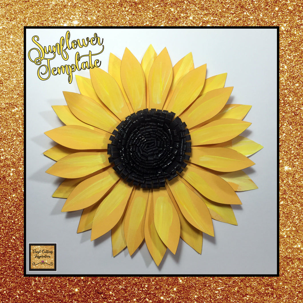 paper flower paper sunflowers sunflower template svg cut file