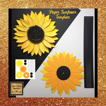 Paper Flower, Paper Sunflowers, Sunflower Template Svg Cut File, Paper Flower, Paper Flowers, Sunflower SVG, Sunflower Template for Cricut, Sunflower Template Printable - Vinyl Cutting Inspiration