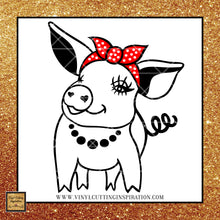 Pig with Bandana Svg, Pig Svg, Pig Face Svg, Piggy Svg, Pig with Bandana Headband, Pig Farm svg, Farm Animal svg, Animal svg, Farmhouse svg, svg files for Cricut, files for Silhouette - Vinyl Cutting Inspiration