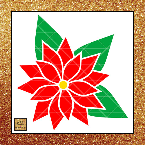 Poinsettia SVG, Christmas flower, poinsettia flower svg, svg Cutting files for cricut, svg images, flower svg, poinsettia