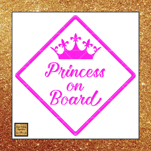 Princess on Board Svg, Princess Svg, Princess Cut File, Little Princess, Baby Shower Svg, Vector Cut,  Baby on Board Svg, Princess Clip Art - Vinyl Cutting Inspiration