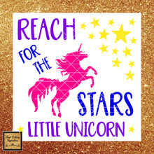 Unicorn Svg, Unicorn Clipart, Unicorn, Reach for the Stars Little Unicorn, Svg, Unicorn Dxf, Unicorn Cut File, Unicorn Birthday, Unicorn Party - Vinyl Cutting Inspiration