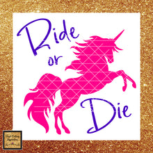 Ride or Die Unicorn, Unicorn Svg, Unicorn Clipart, Unicorn, Unicorn Dxf, Unicorn Cut File, Unicorn Birthday, Unicorn Party, Unicorn Head, Unicorn Horn, Unicorns - Vinyl Cutting Inspiration
