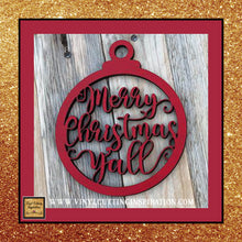Merry Christmas yall, Christmas Ornaments, Christmas Svg, Merry Christmas svg, Winter Svg, Svg, Dxf files, cutting files, scroll saw patterns, svg images, svg files, laser cutting files, Christmas Door Hangers - Vinyl Cutting Inspiration
