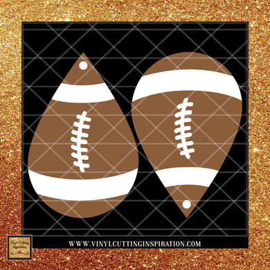 Teardrop Leather Football Earrings Svg, Teardrop Earrings Svg, Football Earrings Template, Faux Leather Football Earrings Svg, Svg images, Svg File, Football Dxf, Faux Leather - Vinyl Cutting Inspiration