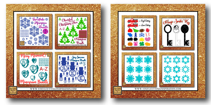 The Ultimate Christmas Monogram Crafting Bundle of 2019! - Vinyl Cutting Inspiration