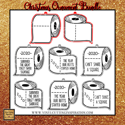 Christmas Ornaments Toilet Paper SVG,  Toiler Paper Roll svg, Toilet Paper SVG Files, Toilet Paper SVG 2020, Toilet Tissue SVG, Covid svg, Quarantine SVG