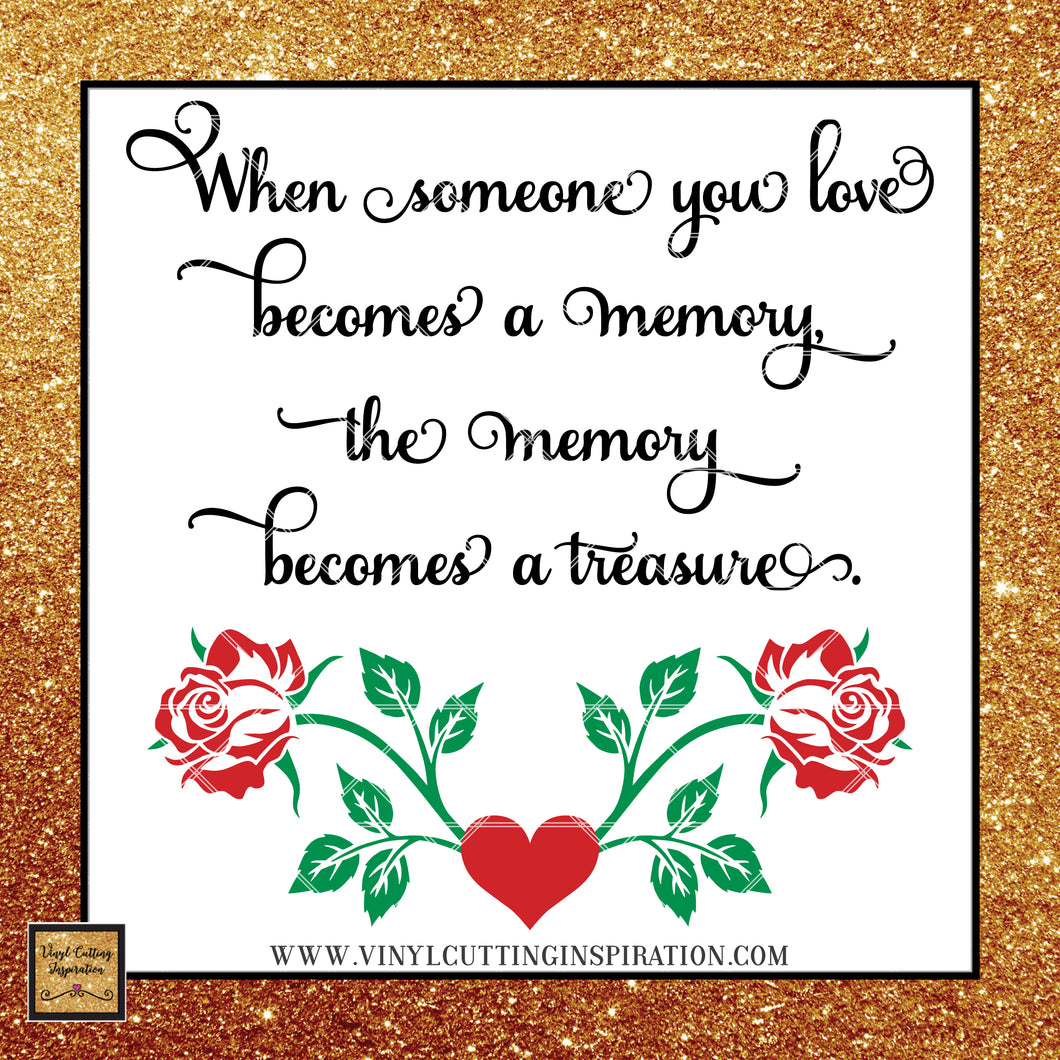 In Loving Memory Svg, Memory Quote, Cutting File, Memorial Svg, In loving memory, In Memory of Svg, Svg File Silhouette, Sympathy Svg,  rose - Vinyl Cutting Inspiration