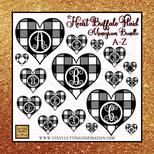 Mongram Bundle, White Heart Svg Bundle, White Buffalo Plaid Heart Svg, Monogram Bundle, Happy Valentine's Day Y'all Svg, Valentines Day Svg, Valentine Svg, Valentines Svg, Love Svg, Heart Svg, Love Heart Svg, Cutting Files Cricut, Svg Files - Vinyl Cutting Inspiration