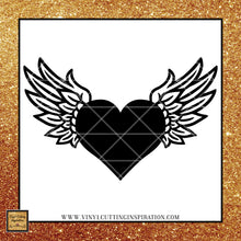 Angel Wings svg, Heart SVG, Memorial SVG, Sympathy Svg, Svg Files, Dxf, Angel Wings with Heart SVG