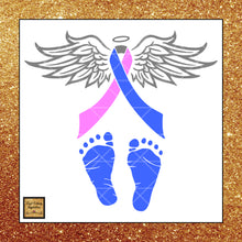Pregnancy, Infant & Child Loss Awareness Ribbon Svg, Child Loss Ribbon Awareness, Pink blue and grey Ribbon Ribbon, Svg Cutting Files, Svg Files, Svg Images, Ribbons - Vinyl Cutting Inspiration