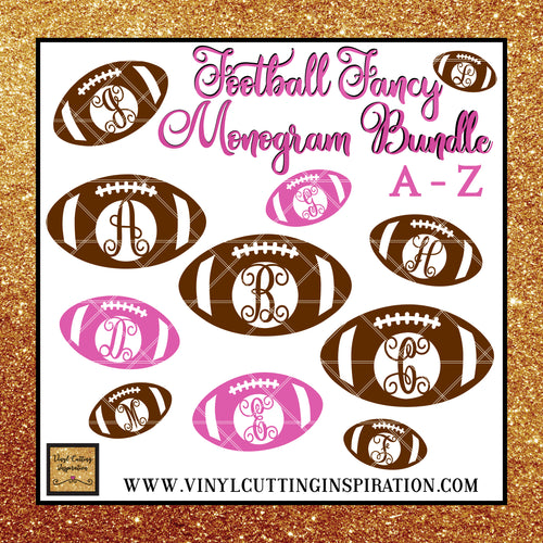 Football Svg, Football Silhouette, Football Monogram Bundle, Football Outline, Football Cut Files, Football Monogram, Football dxf, Sports svg, Svg Files, Cricut Files, Silhouette Files - Vinyl Cutting Inspiration