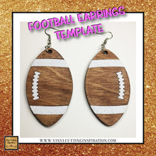 NEW 2019 - Football Svg, Earrings Svg, Football Earrings Template, Faux Leather Football Earrings Svg, Svg images, Svg File, Football Dxf, Faux Leather - Vinyl Cutting Inspiration