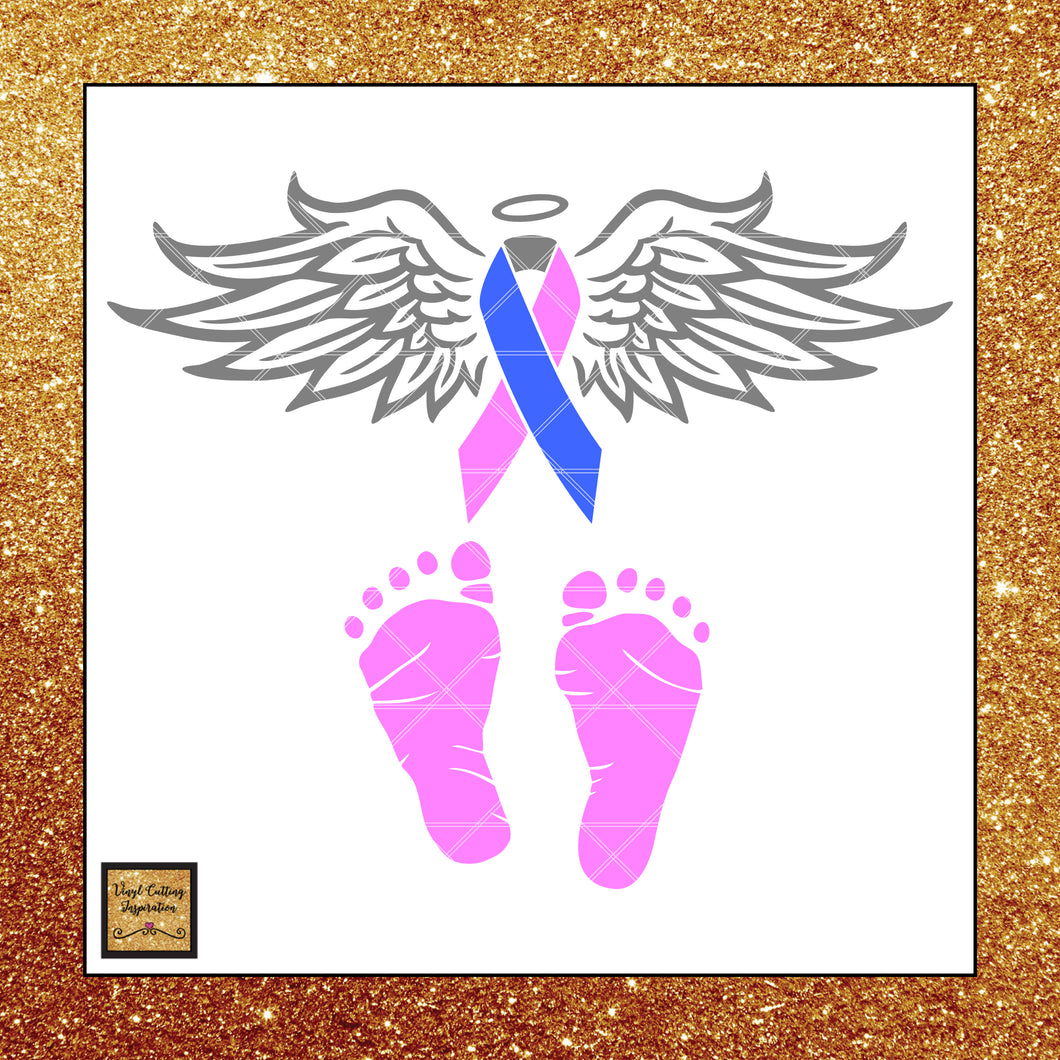 Short Ribbon - Pregnancy, Infant & Child Loss Awareness Ribbon Svg, Child Loss Ribbon Awareness, Pink blue and grey Ribbon Ribbon, Svg Cutting Files, Svg Files, Svg Images, Ribbons - Vinyl Cutting Inspiration