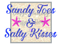 Sandy Toes and Salty Kisses Svg Cut File, Design # 1006 - SVG, DXF, Vector Cutting Files, cut files, Nautical, starfish, cricut, cameo - Vinyl Cutting Inspiration