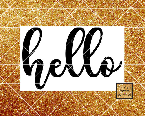 Hello Svg, Hello, Hello Cut File, Front Door Svg, Farmhouse Svg, Welcome Svg, Hello Dxf, Hello Png, Svg Files, Svg Files for Cricut Dxf, svg - Vinyl Cutting Inspiration