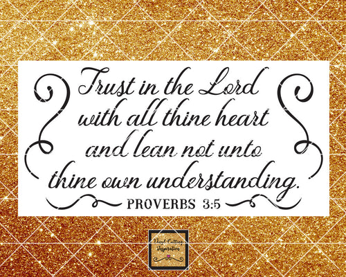 Trust in the Lord, Svg,  Bible Verse Svg, Christian Svg, Proverbs Svg, Scripture Svg, Religious Svg, Svg Files, Svg Cut Files for Cricut Dxf - Vinyl Cutting Inspiration