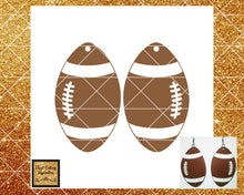 Football Svg, Earrings Svg, Football Earrings Template, Faux Leather Football Earrings Svg, Svg images, Svg File, Football Dxf, Faux Leather - Vinyl Cutting Inspiration