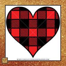 Buffalo Plaid Red Heart Svg, Valentien SVG, Happy Valentine's Day Svg, Valentines Day Svg, Valentine Svg, Valentines Svg, Love Svg, Heart Svg, Love Heart Svg, Cutting Files Cricut, Svg Files - Vinyl Cutting Inspiration
