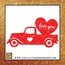 Red Truck, Valentine Svg, Vintage Red Truck Valentine, Love You Svg, Valentines Day Svg, Valentine Svg, Valentines Svg, Love Svg, Heart Svg, - Vinyl Cutting Inspiration