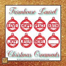 Laurel Christmas Ornaments, Farmhouse Christmas Ornaments, Christmas Ornaments, Templates for Personalized Christmas Ornaments, Christmas Svg, Christmas Svg Bundle, Winter Svg, Merry Christmas Svg Bundle, Svg Dxf - Vinyl Cutting Inspiration