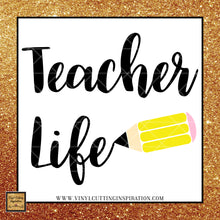 Teacher Life Svg, Teacher Life Dxf, Teacher Svg, Teacher Dxf, Teacher Cut File, Teacher Gift Svg, Teacher Appreciation, Svg, Dxf, Clipart - Vinyl Cutting Inspiration