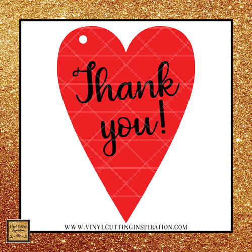 Thank you Heart Gift Tag, Heart Valentine, Heart Wedding Gift Tag Vector, Svg Files for cricut, Silhouette cutting files, love svg, Svg images, Svg Designs - Vinyl Cutting Inspiration
