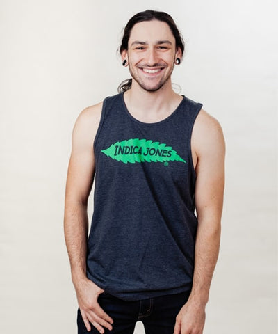 Men's Green Logo Long Body Tank