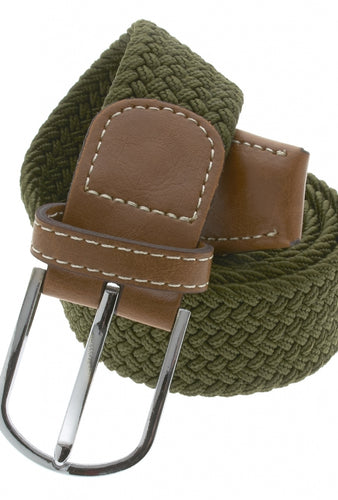 OLIVE STRETCH BELT