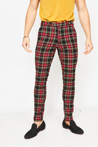 PLAID TROUSERS - BLACK & WHITE