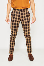 PLAID TROUSERS - BLACK & YELLOW