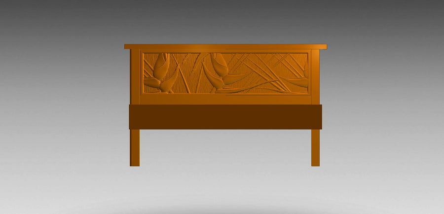Carved Headboards and Beds