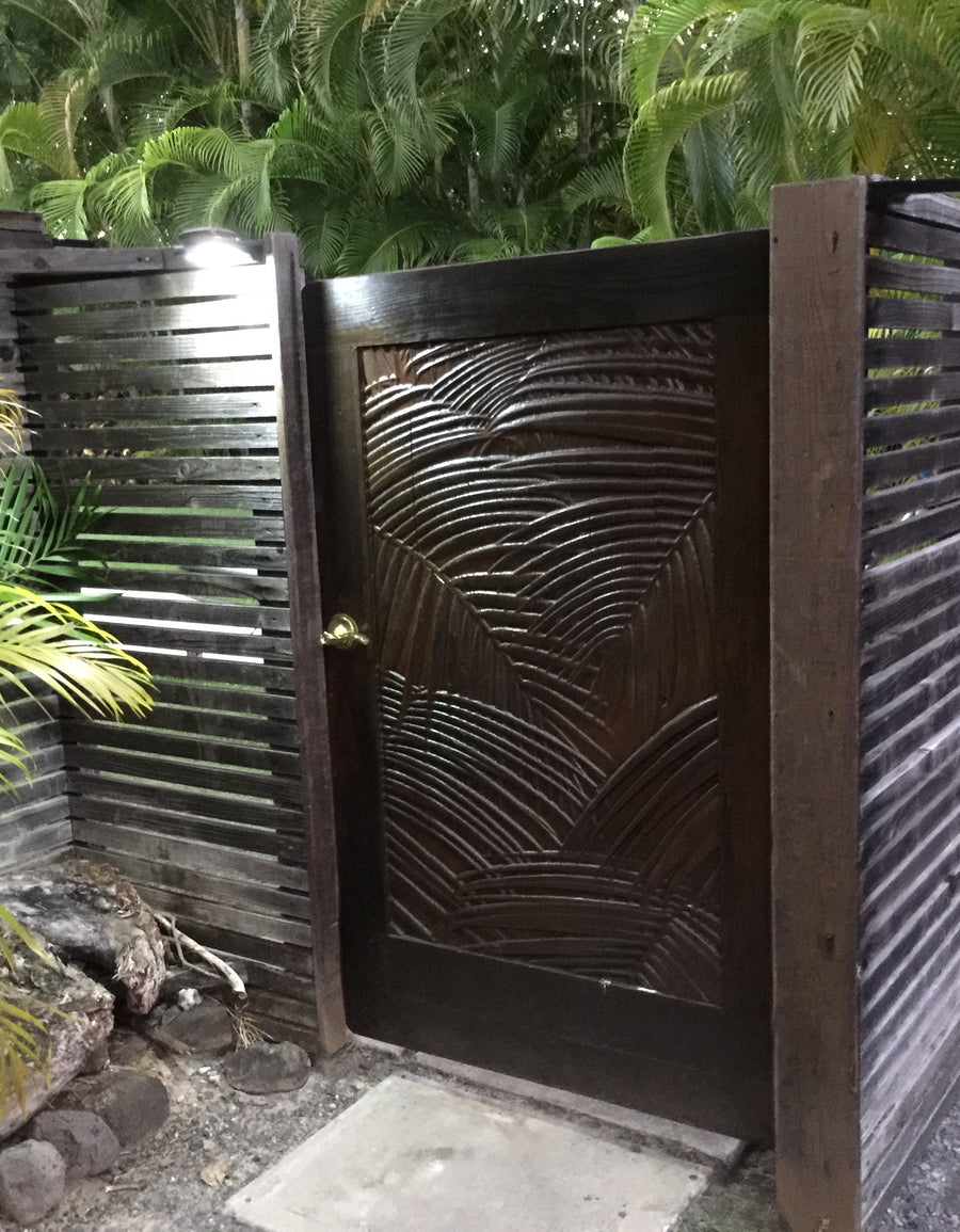 Nature Portrait Palm Gates and Doors