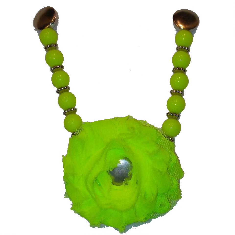 NEON GREEN POUF - INTERCHANGEABLE SANDAL SNAP