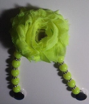 NEON YELLOW POUF - INTERCHANGEABLE SANDAL SNAP