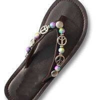 """WORLD PEACE""  - INTERCHANGEABLE WOMEN'S SANDAL SNAP"