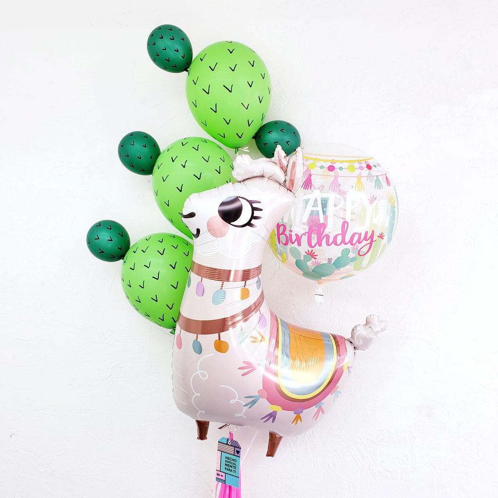 "Bouquet ""Happy Birthday"" Llama & Cactus"