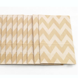 Bolsitas Kraft con base Chevron (12 piezas)