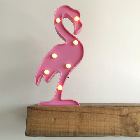 Lámpara de Flamingo de Led Rosa Claro