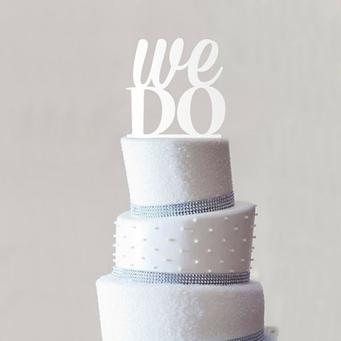 "Cake Topper / Adorno para pastel ""We Do"""