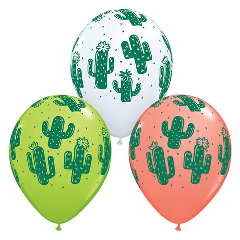 Globo de latex de Cactus (set de 3 colores) (30 cm) (Con helio + $105)